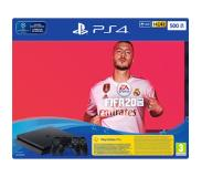 Sony Playstation 4 (Slim) 500 GB Zwart + FIFA 20 + Extra Dualschock 4 controller + 14 day PS plus trial