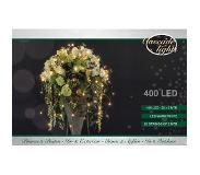 Anna's Collection Cascade verlichting zilverdraad 400l/20x2m led warmwit