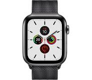 Apple watch series 5 gps + cell 44mm steel case black loop