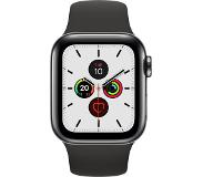 Apple Watch Series 5 GPS + Cell 40mm Steel Case Black Sport Band