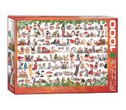 Eurographics Holiday Cats Puzzel (1000 stukjes)