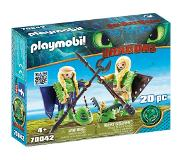 Playmobil Dragons Schorrie en Morrie in vliegpak (70042)