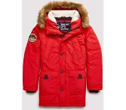 Superdry Parka Winterjas Everest Berry Rood