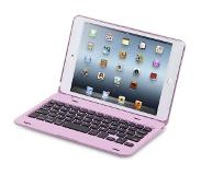Shop4 Javu - iPad Mini 4 Toetsenbord Hoes - Bluetooth Keyboard Cover Aluminium Roze