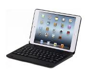 Shop4 - iPad Mini 4 Toetsenbord Hoes - Bluetooth Keyboard Cover Aluminium Zwart