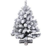 Everlands Mini kerstboom tafelboom Imperial boom snowy d50h90 cm groen/wit
