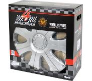 Carpoint wieldoppen Racing 15 inch ABS zilver set van 4