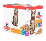 Hill's Pet Nutrition Hill's Science Plan Adult Classic Selection Multipack Kip, Rund en Vis 12x85g