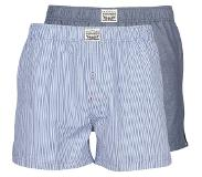 Levi's 2-pack woven boxershorts streep (blauw, S)