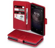 Qubits Luxe lederen wallet hoes - Sony Xperia L2 - rood