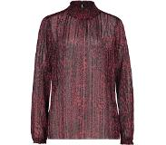 Expresso Shiny blouse bordeaux rood