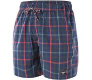 "Speedo Check Leisure 16"" Watershorts Heren, navy/red M 2020 Zwembroeken"