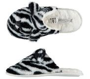 Apollo pantoffels zebraprint Zwart/wit 39/40