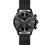 Swiss Military Hanowa 06-3332.13.007 Horloge chrono saffierglas 45 mm