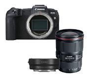 Canon EOS RP + EF - RF Mount Adapter + Canon EF 16-35mm F/4.0 L iS USM