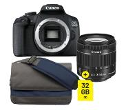 Canon EOS 2000D + 18-55mm F/4-5.6 iS STM COMPACT + SB100 tas + 32GB SDHC
