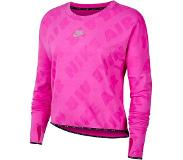 Nike Air Womens Running Top CJ1882-601 Dames Shirt Roze