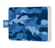 Seagate STJE500406 externe harde schijf 500 GB Blauw, Camouflage