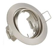 BES LED LED Spot Set - Trion - GU10 Fitting - Dimbaar - Inbouw Rond - Mat Nikkel - 6W - Warm Wit 3000K - Kantelbaar Ø83mm