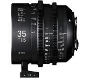 Sigma 35mm T1.5 Cine FF High-Speed Prime Sony E-mount objectief