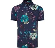 We fashion gebloemde slim fit polo royal navy Royal Navy L