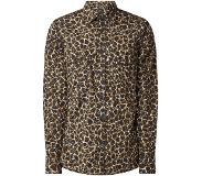 Hugo Boss Rebus regular fit overhemd met animalprint