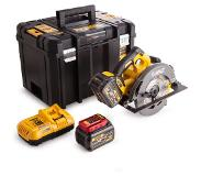 DeWalt DCS575T2 54V XR FlexVolt Li-Ion Accu cirkelzaag set (2x 6.0Ah accu) in TSTAK - 190mm - koolborstelloos
