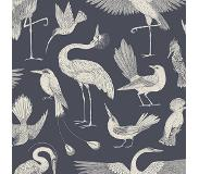 Ferm Living Katie Scott Birds Behang Dark Blue (l) 1000 X (b) 53 X (d) 0.1 X (h) 1000 Cm