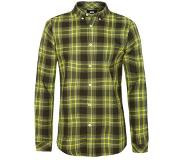 We fashion geruit slim fit overhemd groen Groen M