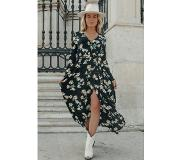 Colourful Rebel Maya Big Flower Maxi Wrap Dress