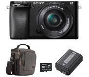 Sony Alpha A6100 systeemcamera + 16-50mm + Accessoire Kit