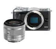 Canon *Canon EOS M6 zilver + 15-45mm IS STM zilver