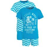 C&A Here & There shortama - set van 2 blauw Blauw 152