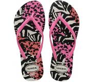 Havaianas Slipper Havaianas Women Slim Animals White Pink Shocking Pink Shocking-Schoenmaat 31 - 32