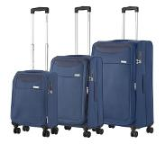 Carryon Air Trolleyset 3pcs steel blue Lichtgewicht koffer