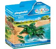 Playmobil Alligator met baby 70358