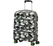 American Tourister Wavetwister Spinner 55 camo/acid green Harde Koffer