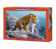 Castorland Tiger on the Rocks - 500 stukjes