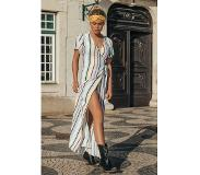 Colourful Rebel Ava Stripes Wrap Maxi Dress