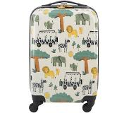 HEMA Koffer - 55x35x20 - Safari Kids (wit)