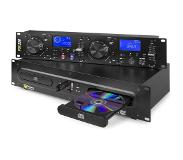 Power Dynamics PDX350 dubbele DJ CD/USB speller controller CD/USB/MP3 zwart
