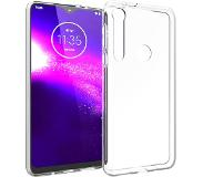 Accezz Clear Backcover Motorola One Macro hoesje - Transparant