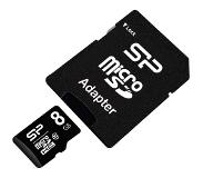 Silicon Power MicroSDHC Card class 10 8GB incl. adapter