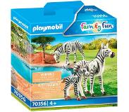 Playmobil Family Fun: 2 zebra's met baby (70356)