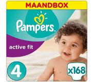 Pampers Active Fit maandbox maat 4 (8-16 kg) 168 luiers
