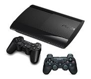Sony PlayStation 3 Ultra Slim 500GB + 2x Dual Shock Controller 3