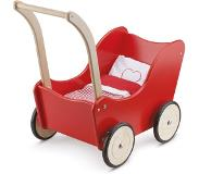 New Classic Toys New Class ic Toys Poppenwagen-rood inclusief bedset