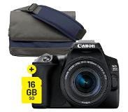 Canon EOS 250D Zwart + 18-55mm iS STM COMPACT Starter Kit