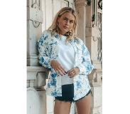 Colourful Rebel Dames Blouse Wit - Loose Fit - Katoen