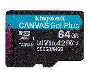 Kingston Canvas Go! Plus flashgeheugen 64 GB MicroSD Klasse 10 UHS-I